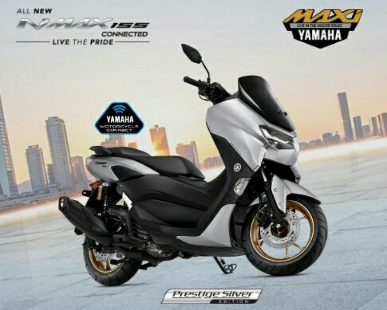All New Nmax Connected Varian Baru Standard Upgrade